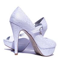 Sapatos De Noiva/peep Toe Tecido Renda/casamento/ Salto11 Cm