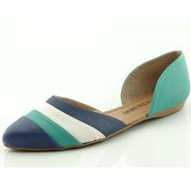 Sapatilha Glamm Recortes Azul - Sapatos Mania