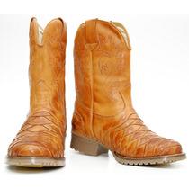 Bota Texana Escamada Country Western Hoper 100% Couro Ref901