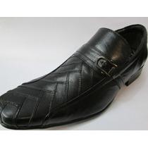 Sapato Calvest Couro Legítimo Com Detalhes No Couro