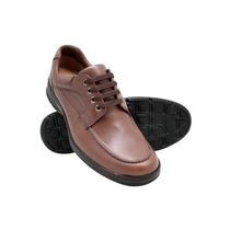 Sapato Conforto Antistress De Couro - Até P/diabeticos 2002