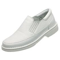 Sapato Branco Couro Antistres Confort Macio Num. 44 45 46 47