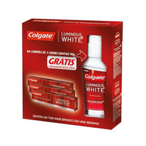 Kit Colgate Luminous White 3 Cremes Dentais + 1 Enxaguante