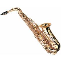 Sax Alto Mib Laqueado Completo!! Similar Weril Eagle Yamaha