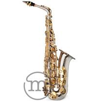 Saxofone Milano Alto Eb Mi Custom Prata Com Dourado . Loja !