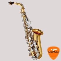 Sax Alto Yamaha Yas-26id Laq Chaves Niquel Loja Shopmusic