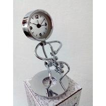Lindo Relógio Despertador Metal Musico Saxofone Frete Barato