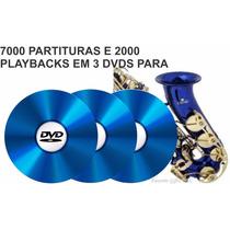 7000 Partituras De Sax Saxofone + 2000 Playbacks + Métodos