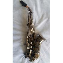 Sax Soprano Curvo Jahnke Envelhecido Nove