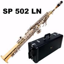 Saxofone Soprano Eagle Sp 502 Ln Em Sib Reto - Promoção