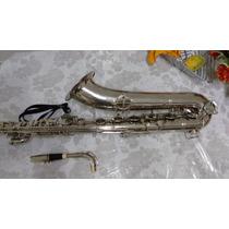 Sax Baritono Weril Niquelado,original,saxofone,troco+volta