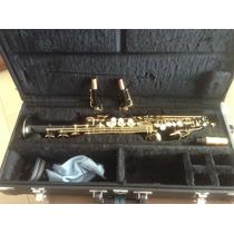 Saxofone Soprano Jupiter Jps 747 P 30310 Preto