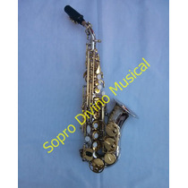 Sax Soprano Curvo Corpo Níquel Chaves Laque Hoyden Hsc 25nl