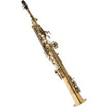 Saxofone Soprano Reto Eagle Sp502 Em Sib Envelhecido C/ Case