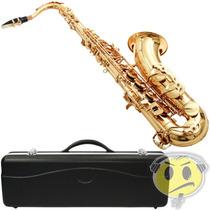 Saxofone Sax Tenor Waldman Wst Gd Laquer + Estojo Si Bemol