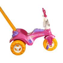 Triciclo Menina Velotrol Fofy C/ Haste Cotiplás Frete Grátis