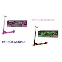 Patinete Infantil C/freio E Luz Meninos/meninas Frete Grátis