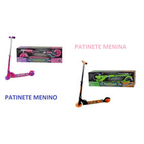 Patinete Infantil C/freio E Luz Monsters Meninos Ou Meninas