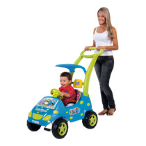 Carrinho Bebê Roller Baby Monster Azul Estofado - Magic Toys