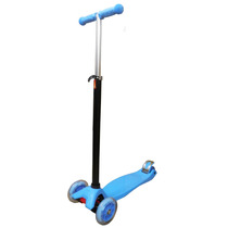 Scooter Patinete 4 Rodas De Led Crianca Infantil Freio Azul