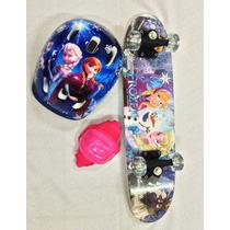 Skate Infantil Frozen Com Acessorios