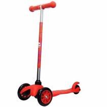 Patinete Scooter Infantil Twist Vermelh 3 Rodas+freio+brinde