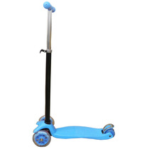 Scooter Patinete 4 Rodas Com Led Crianca Infantil Freio