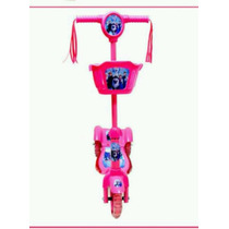 Patinet Infantil 3rodas Frozen Disney Rosa Scooters Luz/sons