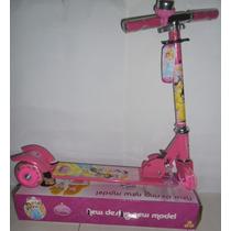 Patinete Infantil As Princesas De Ferro Tres Rodas Na Caixa