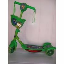 Patinet Infantil 3rodas Ben 10 Disney Scooters Luz/sons