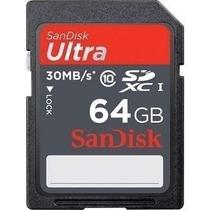 Sandisk Sdxc Ultra 30mb/s 64gb Sd Sdhc Câmera Nikon Samsung