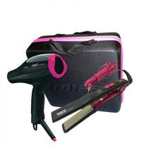 Secador + Chapinha - Titanium Série Colors Pink - Taiff
