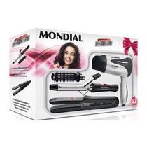 Kit Mondial Nkt-04 - Prancha+escova Modeladora+secador