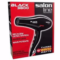 Secador Salon Line Black 3800 2200w/ Tenho 127w