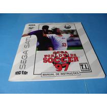 Manual Sega World Wide Soccer 97 Original Sega Saturn
