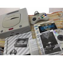 Sega Saturn Branco Lindo + Manual + Jogo + Cabo Av