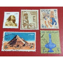 Selos Do Egito - 5 Selos (ver Imagem) - Frete Fixo