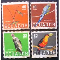A6037 Equador - Fauna Aves Yvert Nº 632/5 Completa Nn