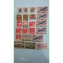 Conjunto Com 22 Selos Raros E Antigos Dos Estados Unidos