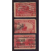 Selos Raros Antigos Usa - 1912/1925 - Parcel