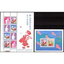 Japão 1998 - Ano Novo Chinês. Lebre (2 Blocos)