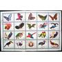 9552 Fujeira Fauna Aves Exóticas E Borboletas Série Completa