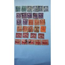 Conjunto De 30 Selos Raros E Antigo Dos Estados Unidos