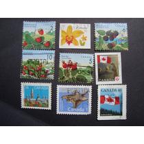 90 - Canadá 9 Selos Varios Temas Carimbado - Ver Fotos