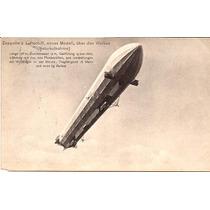 Zeppelin-antigo Postal Circulado Na Austria