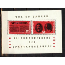 Ms0764 - Alemanha, Ddr. Bloco, Conferência Spartacus, Mint