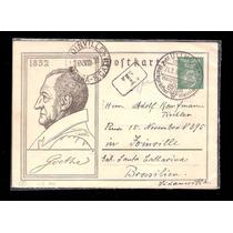 Alemanha- Inteiro Postal-goethe+ Uvas.envelope Circulado(c)