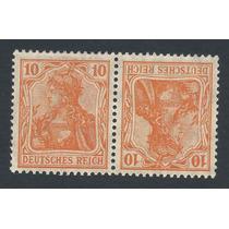 Selo Alemanha 1921 Deutsches R. Mi Nº K 1 10+10pf, Mnh