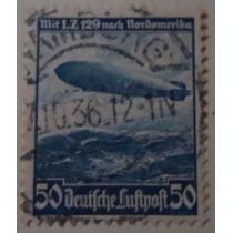 Selo Alemanha Deutsches Reich Air, L.z. 129 1936