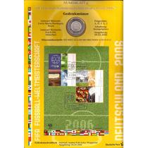 Alemanha-folder Copa 2006 Bloco Selos E Uma Moeda De 10 Eu